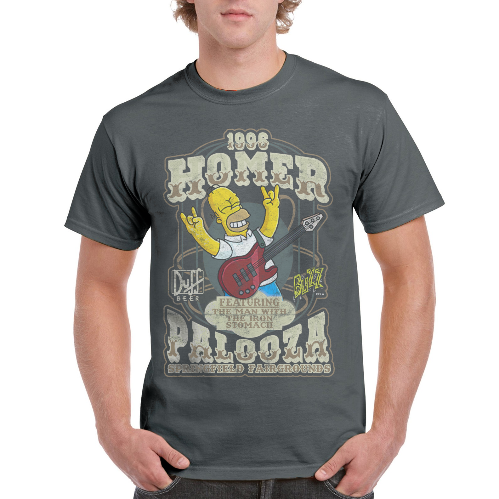 d110096946 HomerPalooza Hullabalooza Music Festival Simpsons T Shirt